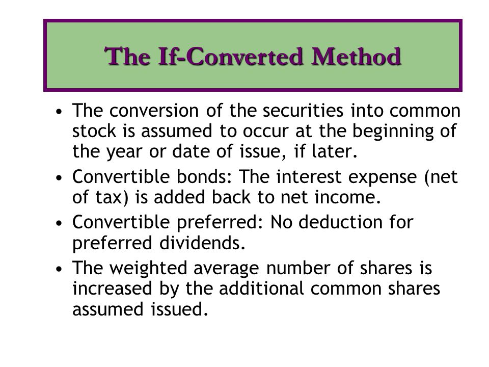 The If-Converted Method