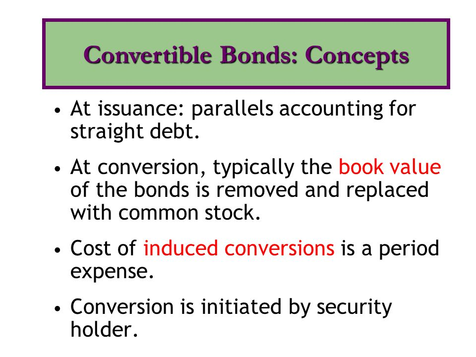 Convertible Bonds: Concepts