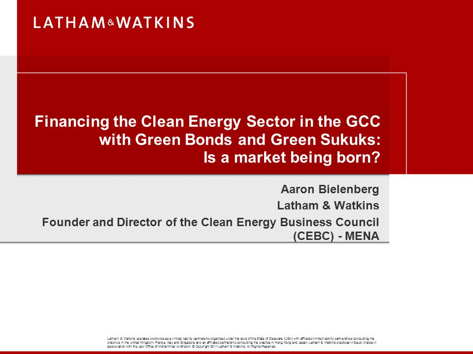 Financing the Clean Energy Sector in the GCC with Green Bonds and Green Sukuks: Is a market being born
