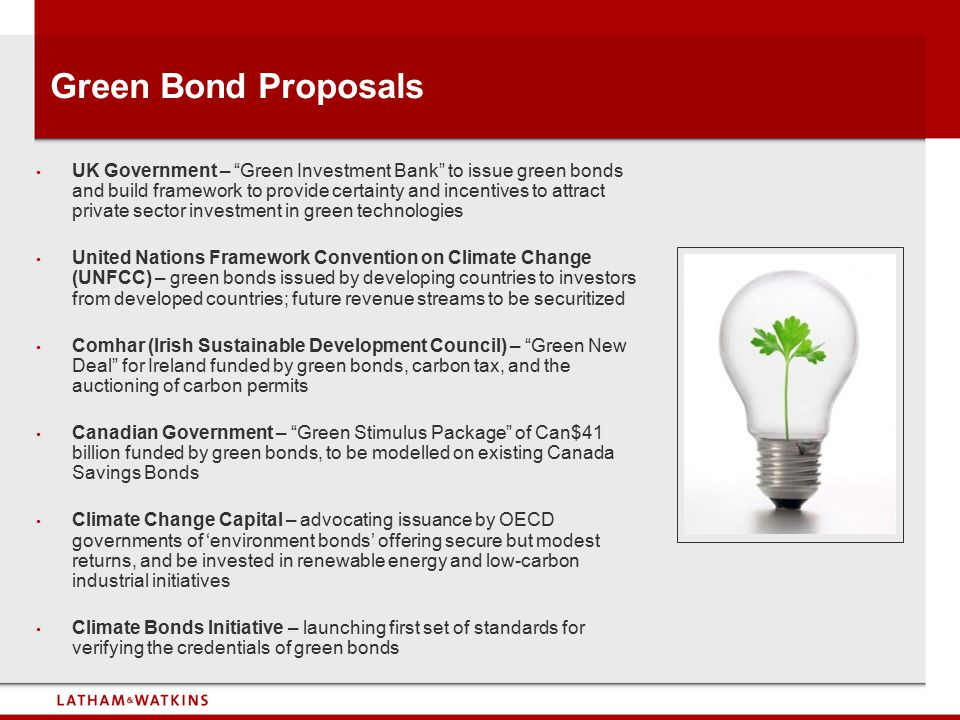 Green Bond Proposals