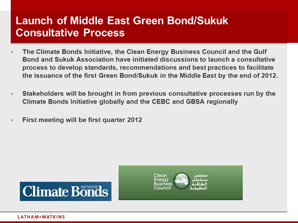 Launch of Middle East Green Bond/Sukuk Consultative Process