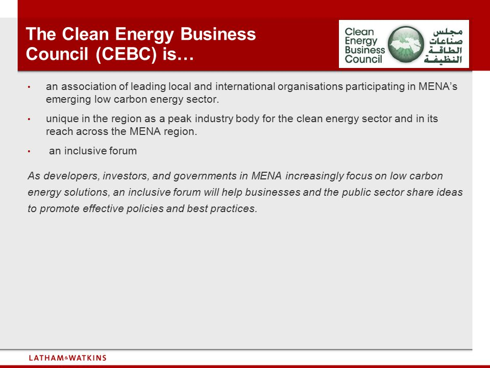 The Clean Energy Business Council (CEBC) is…