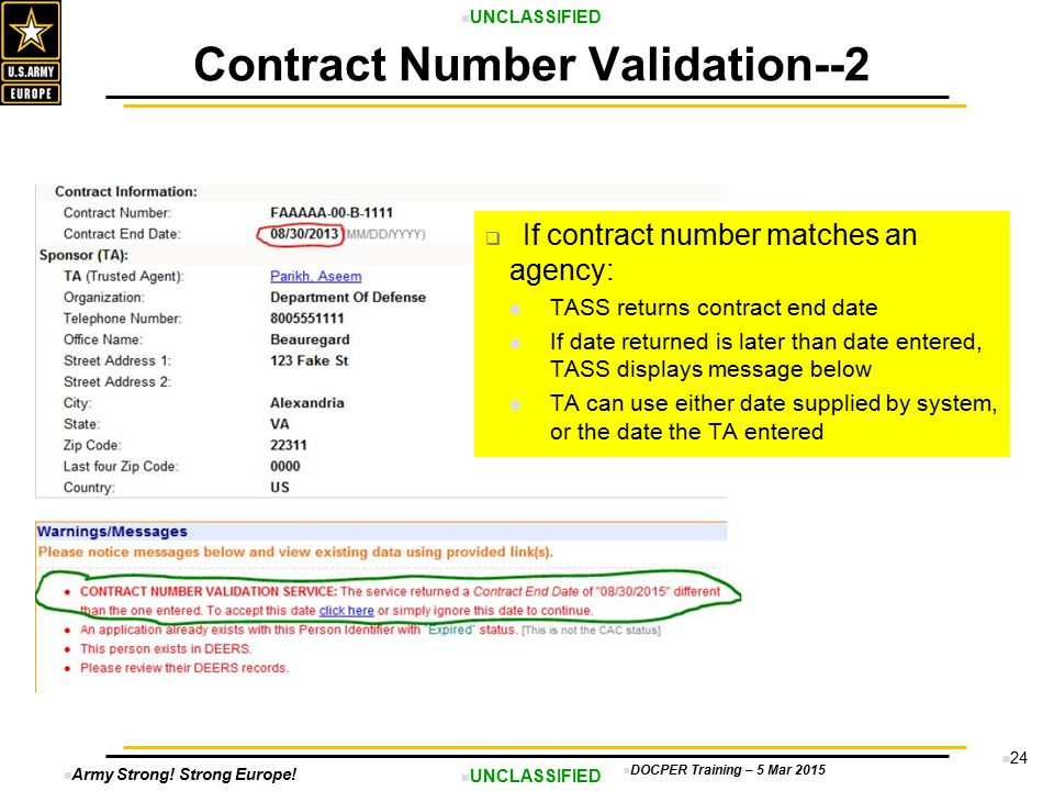 Contract Number Validation--2