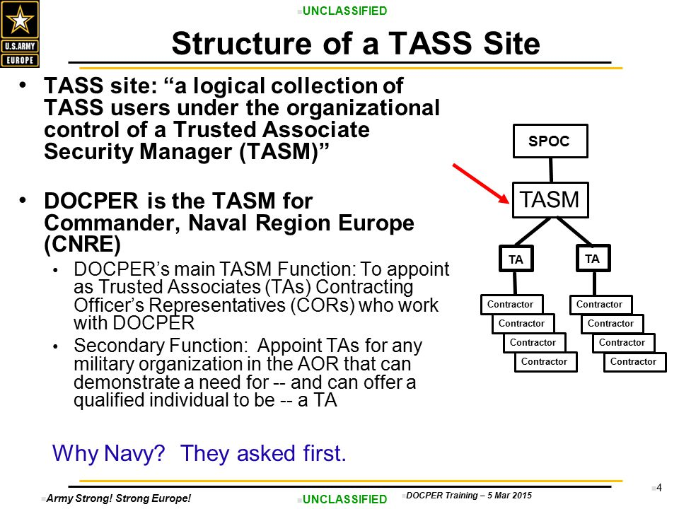 Structure of a TASS Site