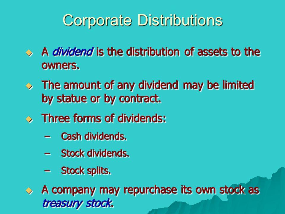 Corporate Distributions