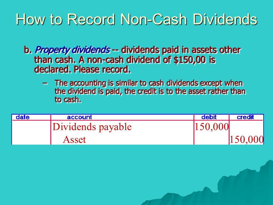 How to Record Non-Cash Dividends