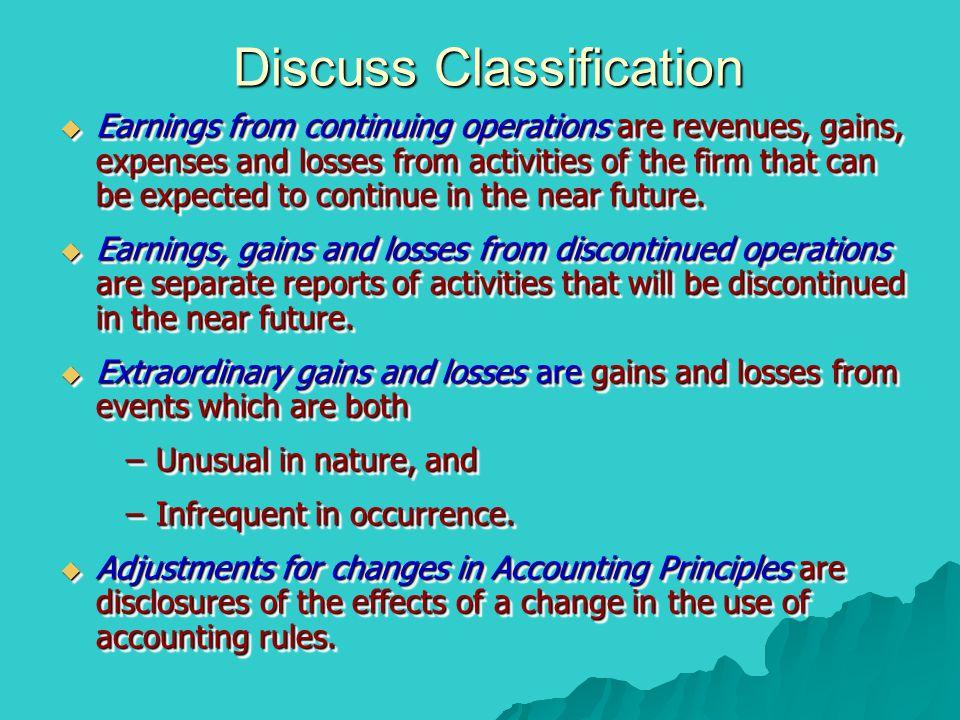 Discuss Classification