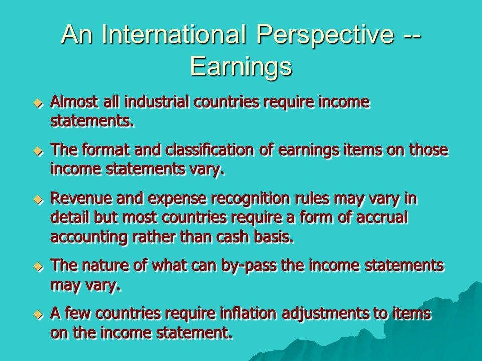 An International Perspective -- Earnings