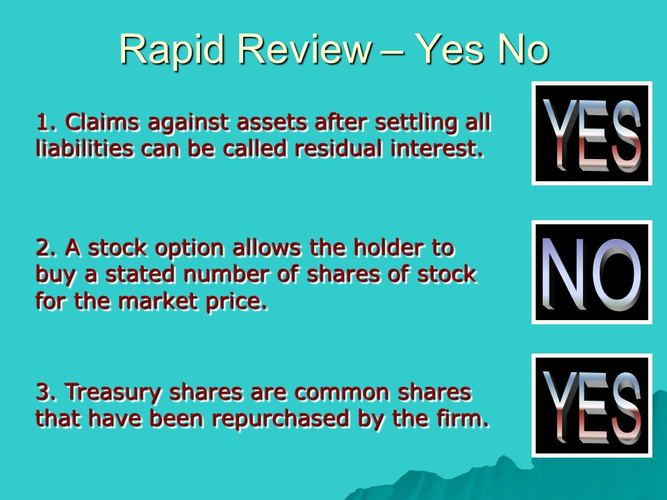 Rapid Review – Yes No YES NO YES