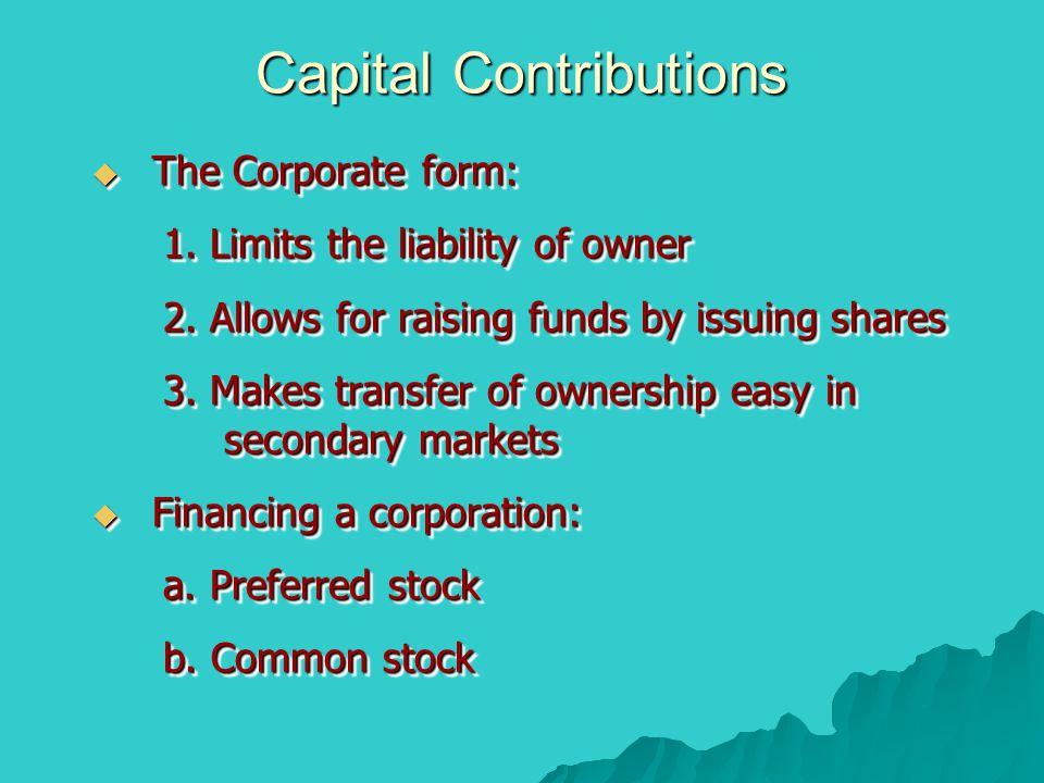 Capital Contributions