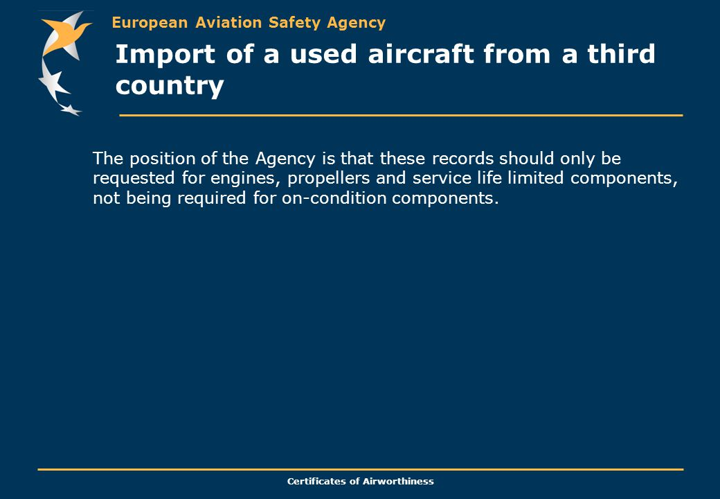 Import of a used aircraft from a third country