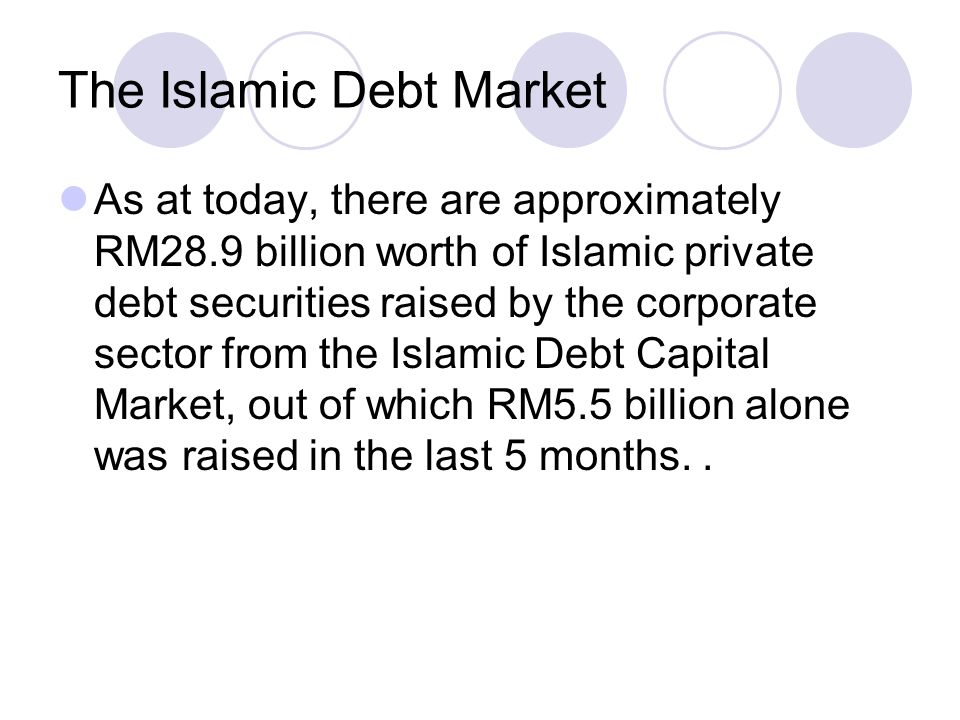 The Islamic Debt Market