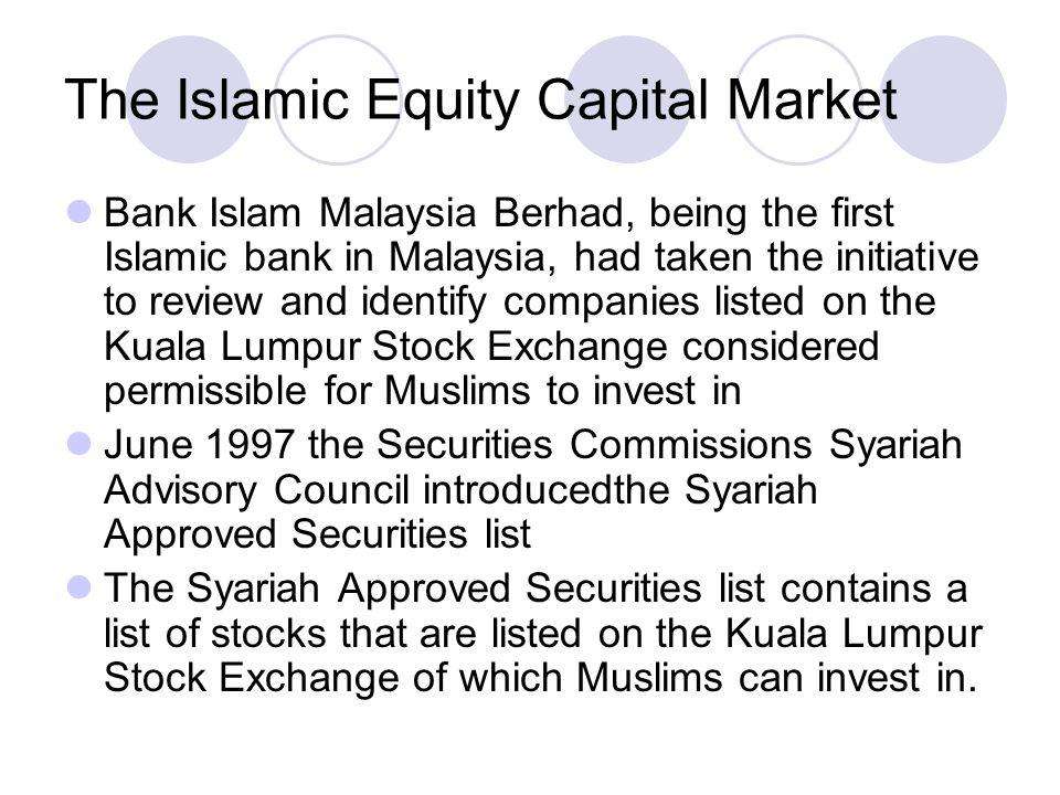 The Islamic Equity Capital Market