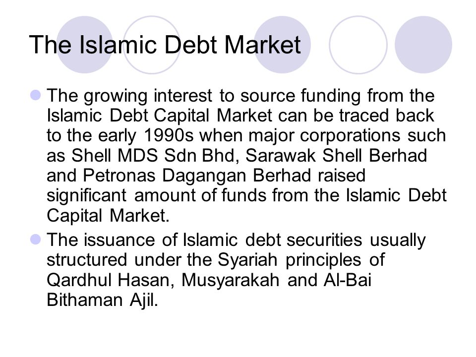 The Islamic Debt Market