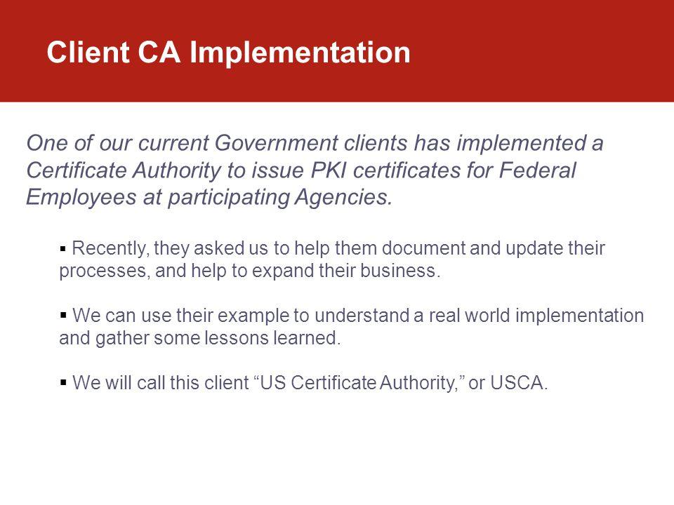 Client CA Implementation