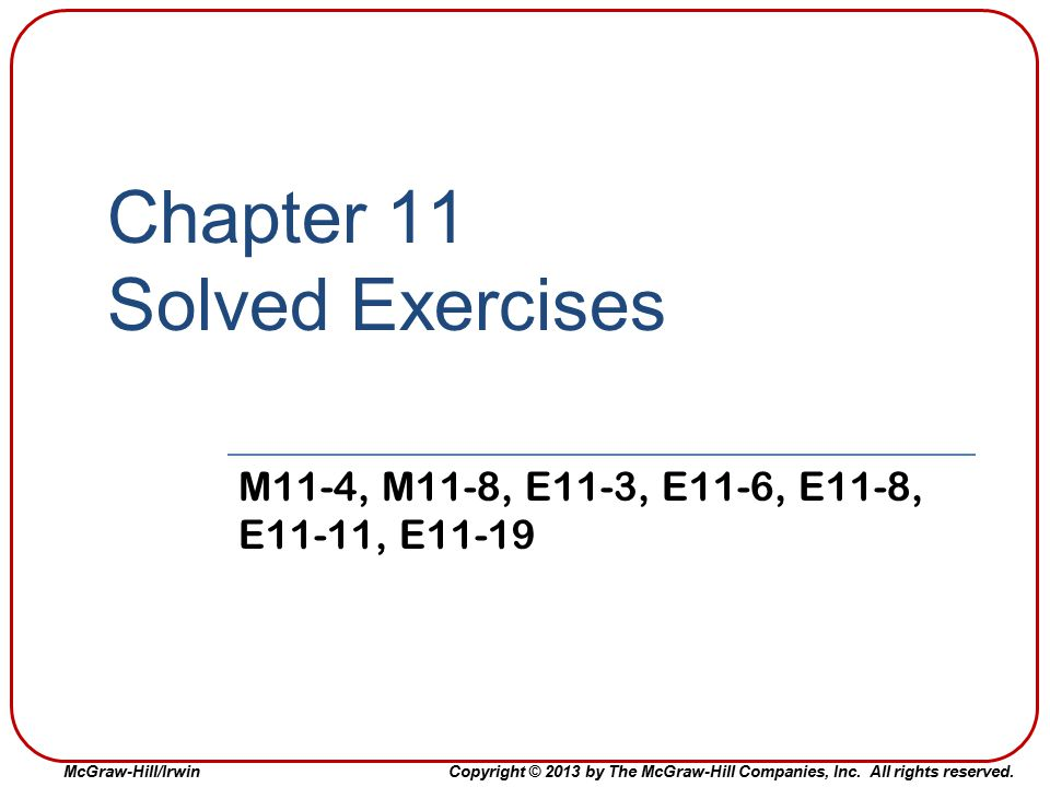Chapter 11 Solved Exercises