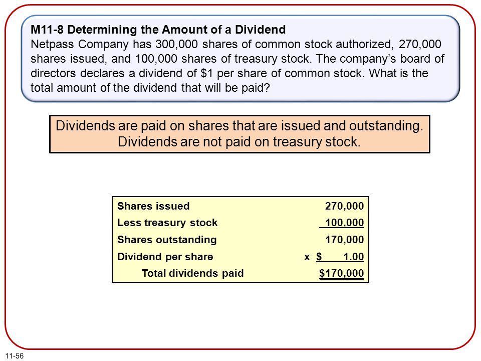 M11-8 Determining the Amount of a Dividend