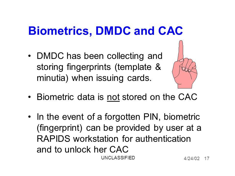 Biometrics, DMDC and CAC