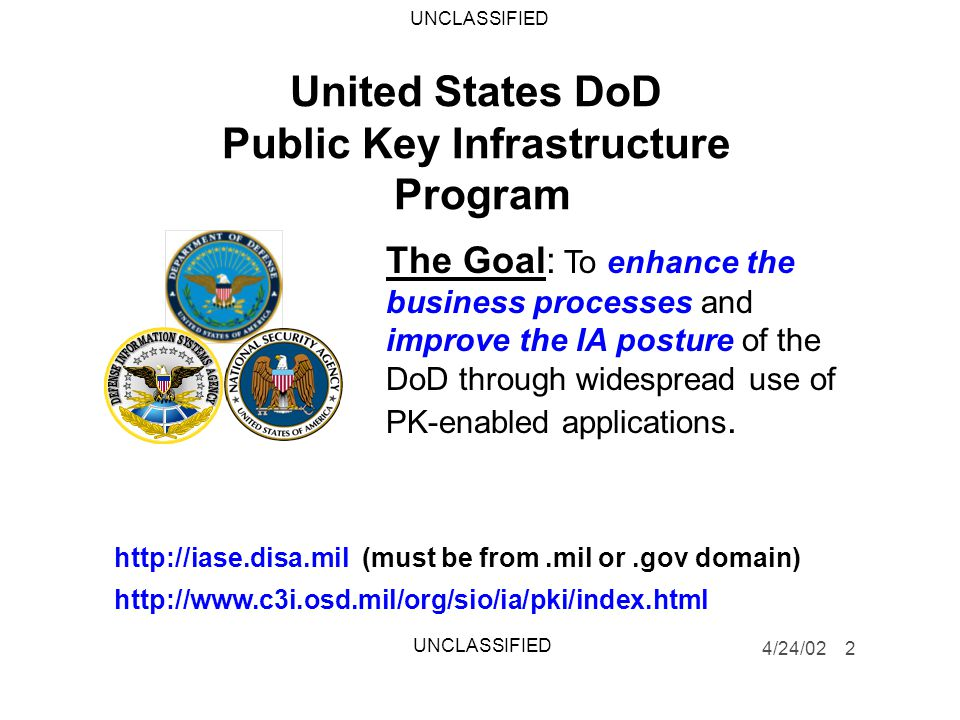 United States DoD Public Key Infrastructure Program