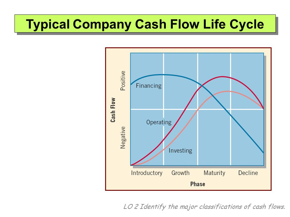 Typical Company Cash Flow Life Cycle