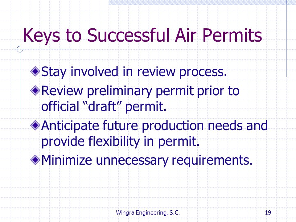 Keys to Successful Air Permits