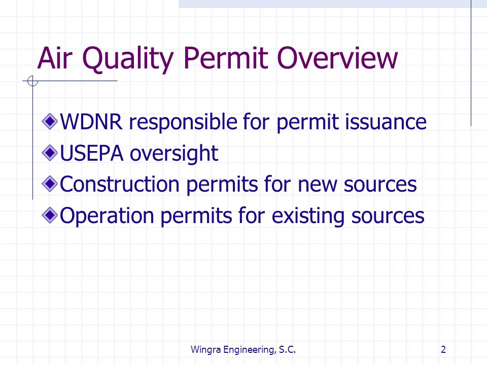 Air Quality Permit Overview