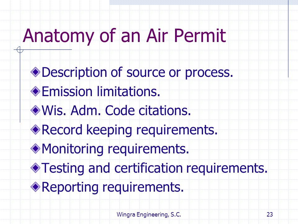 Anatomy of an Air Permit