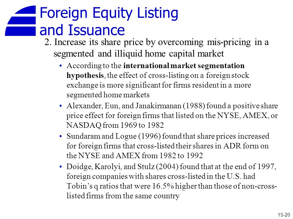 Foreign Equity Listing and Issuance