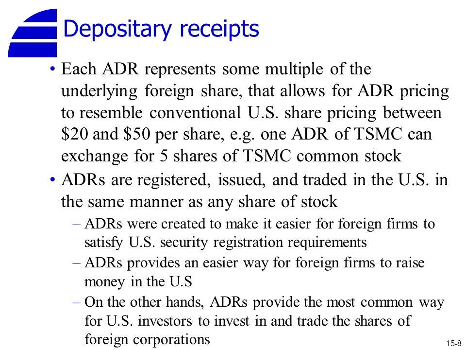 Depositary receipts