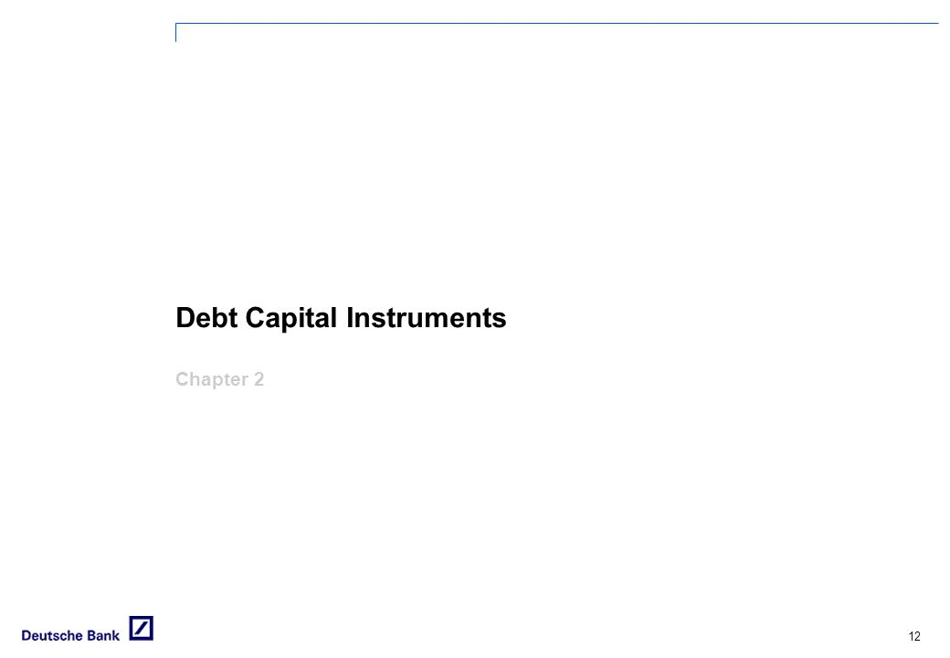 Debt Capital Instruments Chapter 2