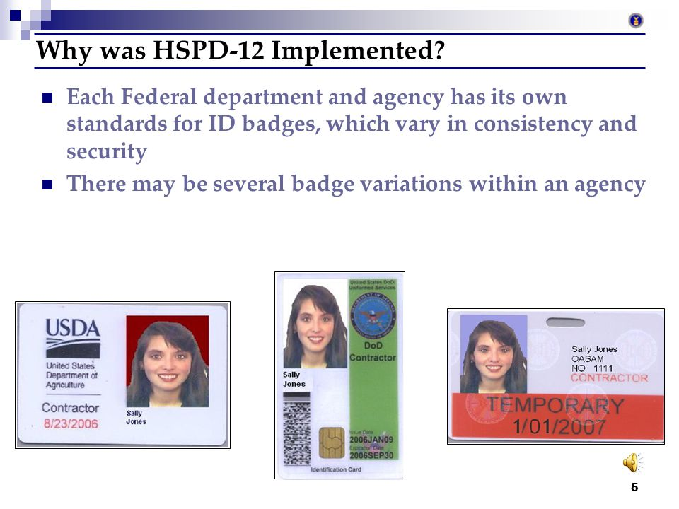 Why was HSPD-12 Implemented