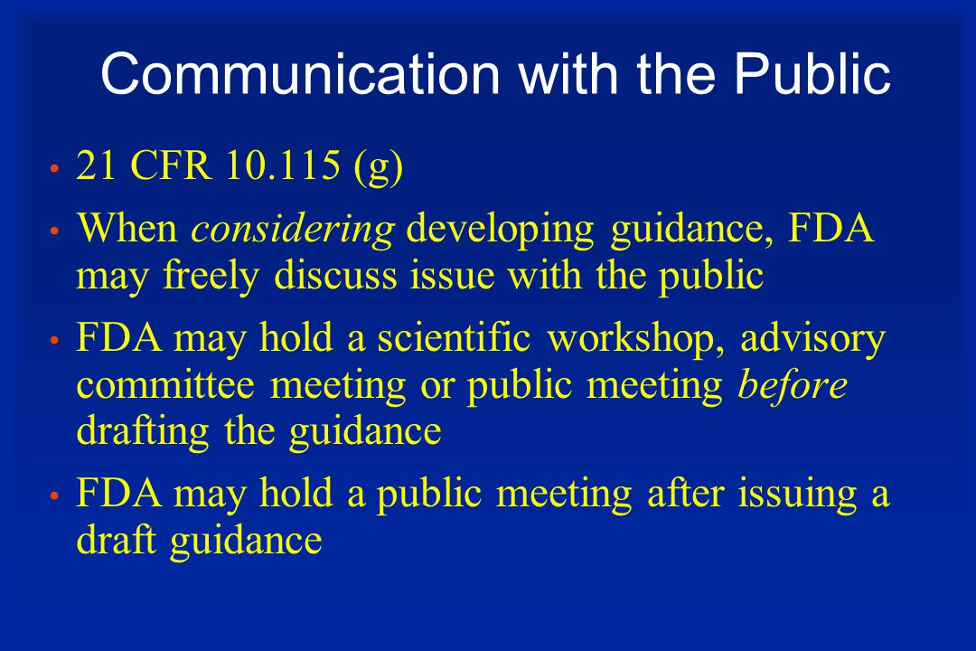 Communication with the Public