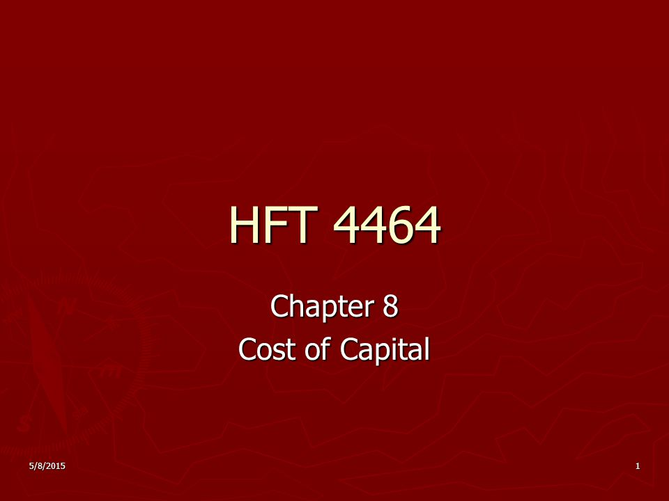 Chapter 8 Cost of Capital