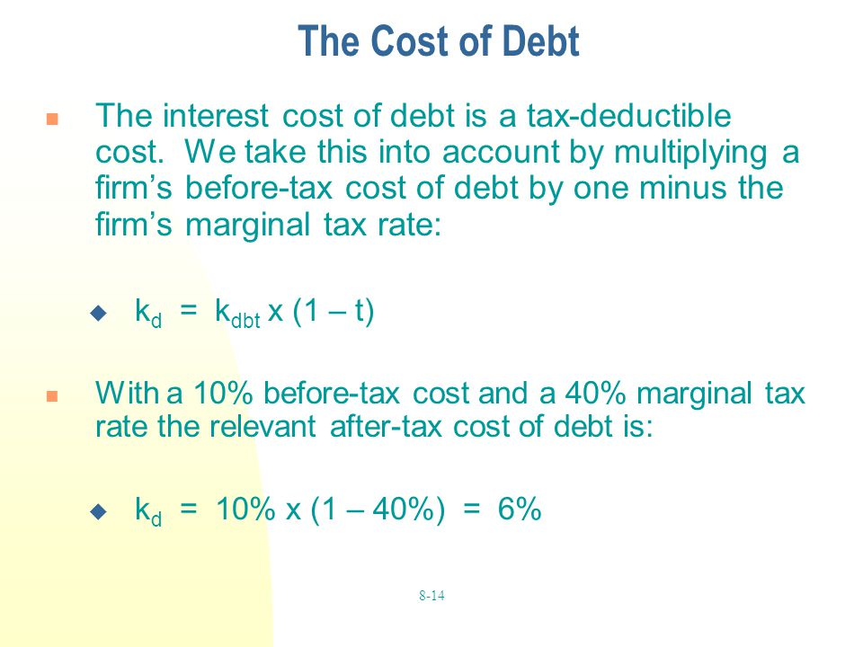 The Cost of Debt