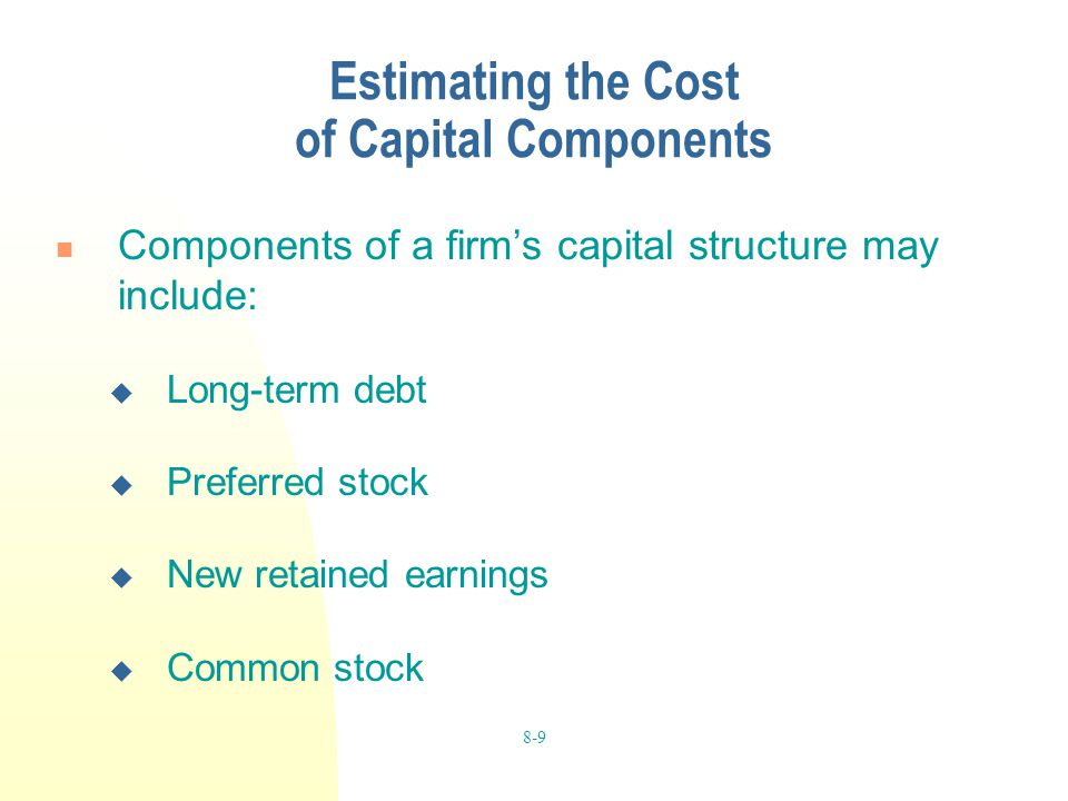 Estimating the Cost of Capital Components