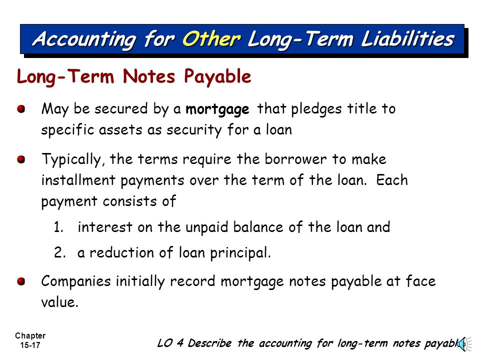 Accounting for Other Long-Term Liabilities