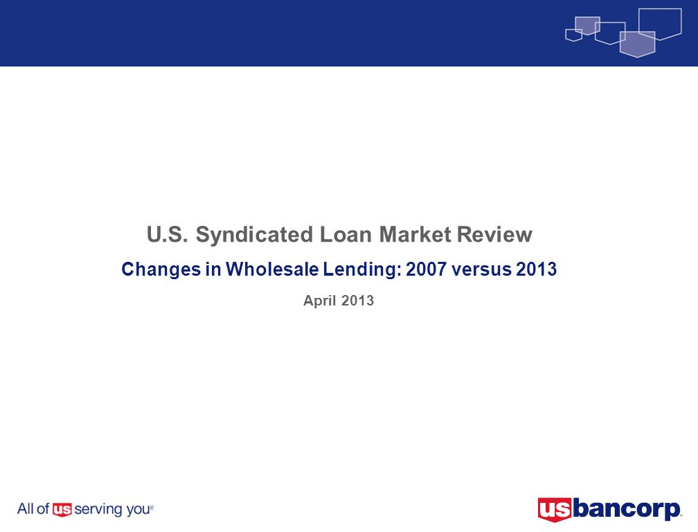U.S. Syndicated Loan Market Review