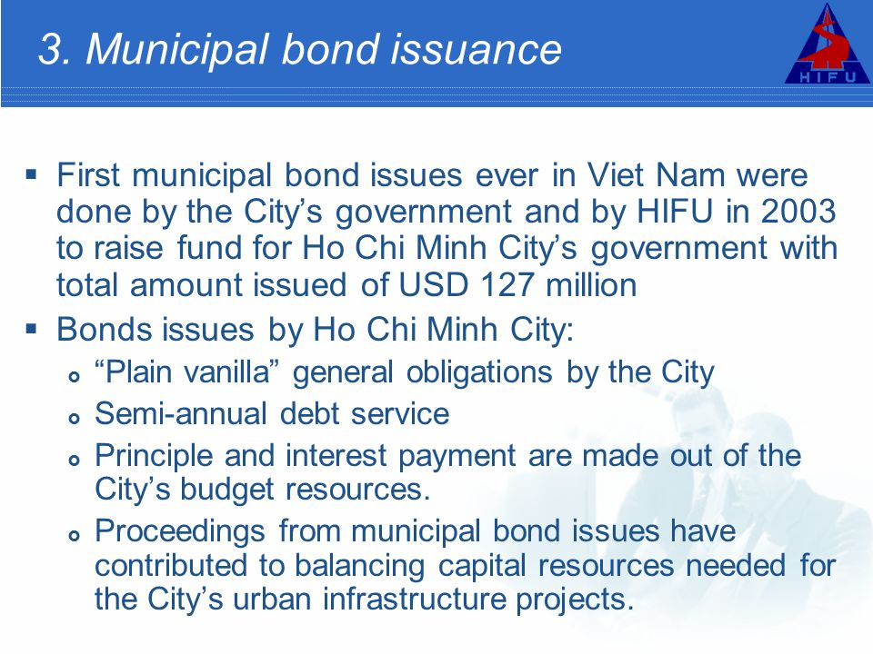 3. Municipal bond issuance