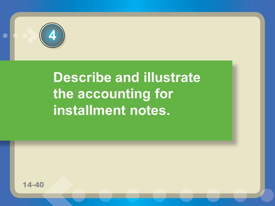 Describe and illustrate the accounting for installment notes.