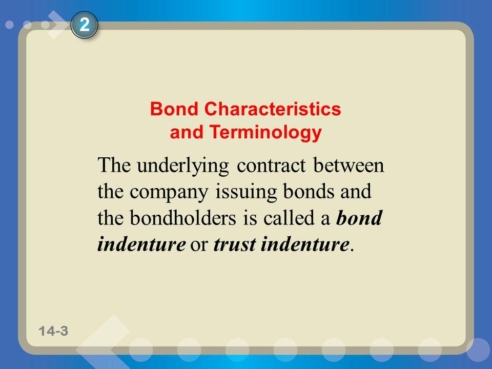 Bond Characteristics and Terminology