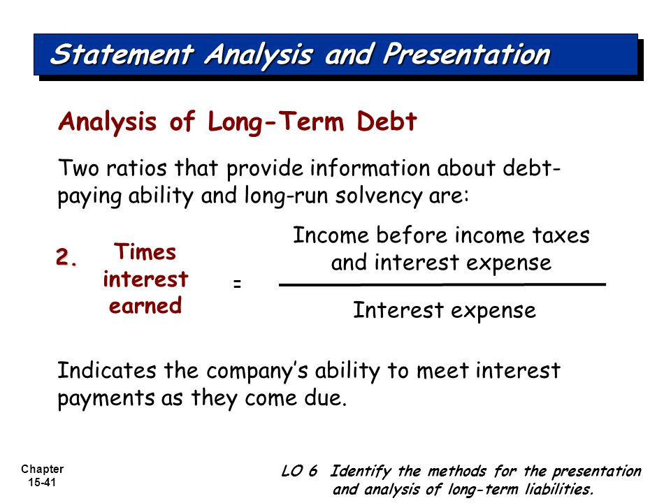 Income before income taxes and interest expense
