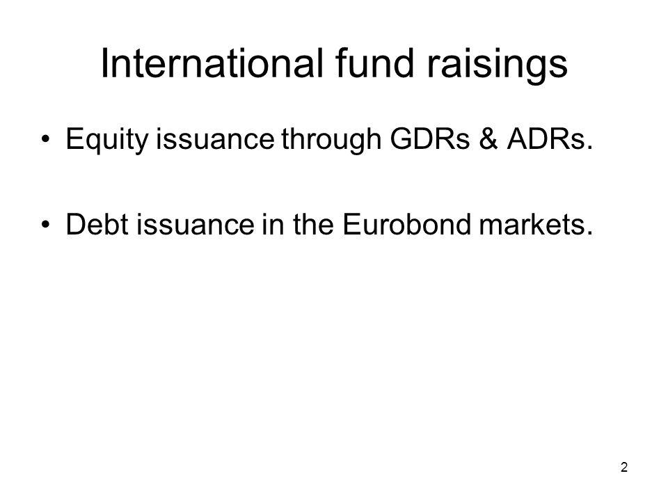 International fund raisings