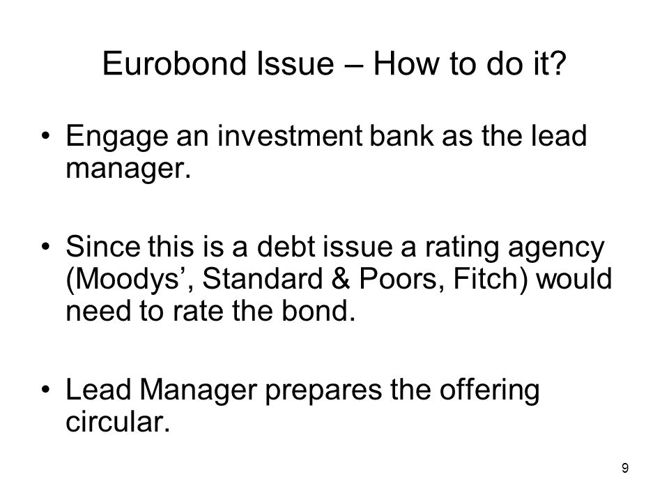 Eurobond Issue – How to do it