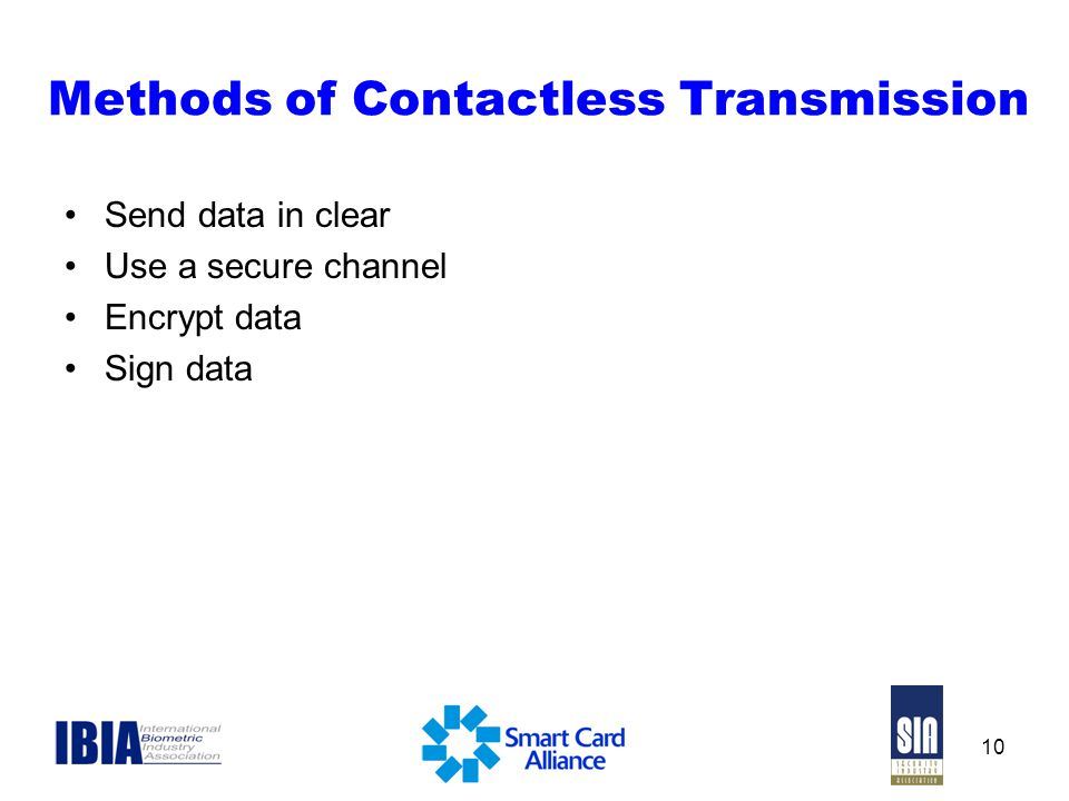 Methods of Contactless Transmission