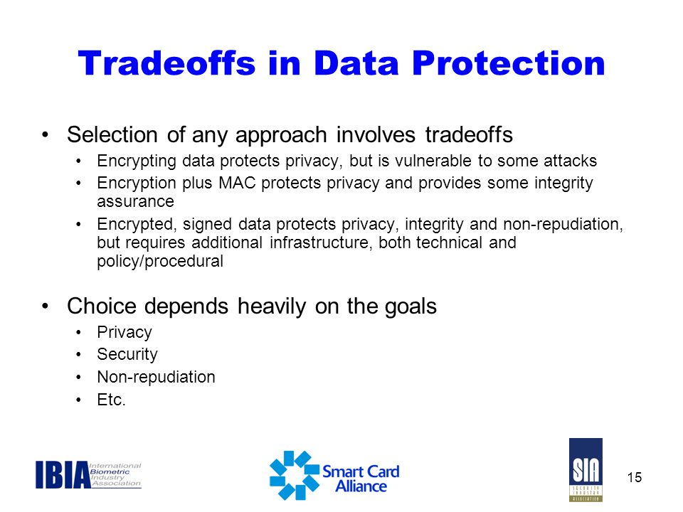 Tradeoffs in Data Protection