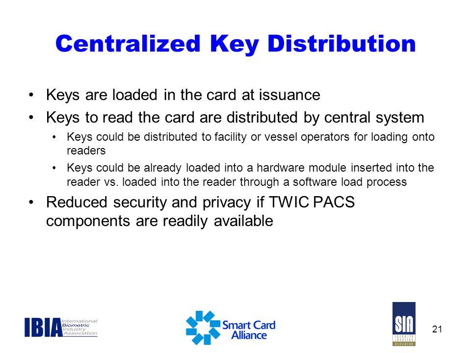 Centralized Key Distribution