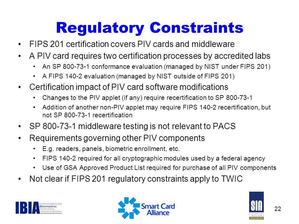 Regulatory Constraints