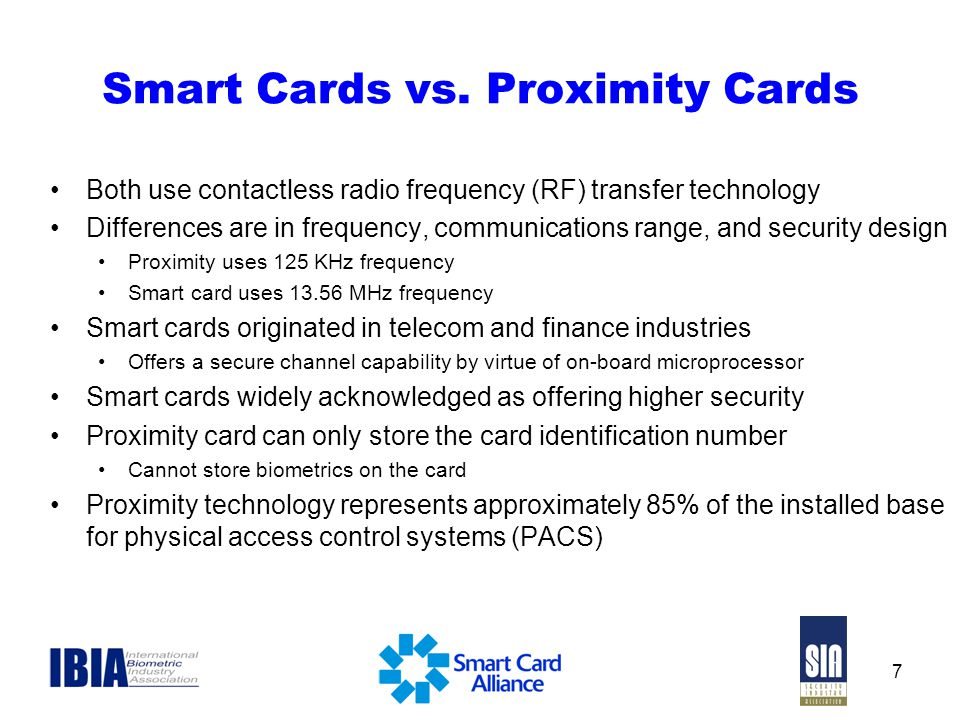 Smart Cards vs. Proximity Cards