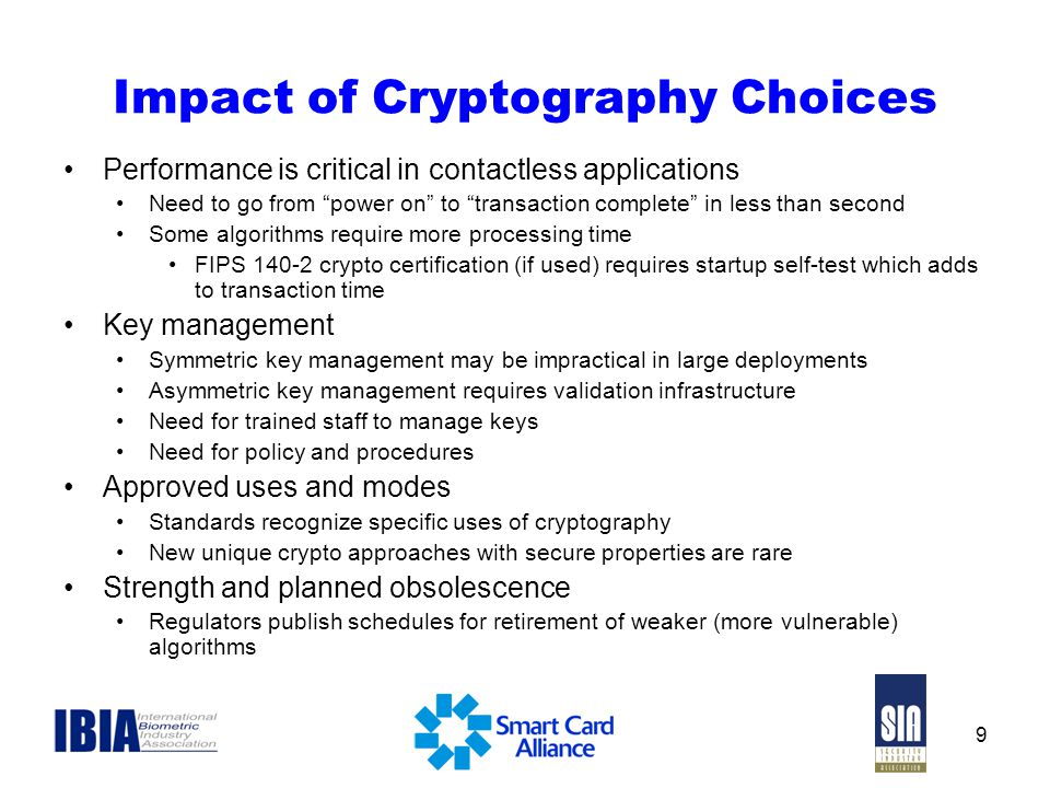 Impact of Cryptography Choices