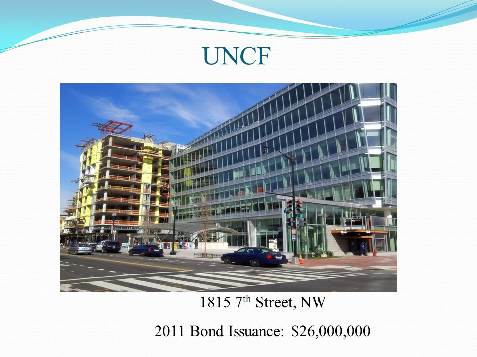 UNCF 1815 7th Street, NW 2011 Bond Issuance: $26,000,000